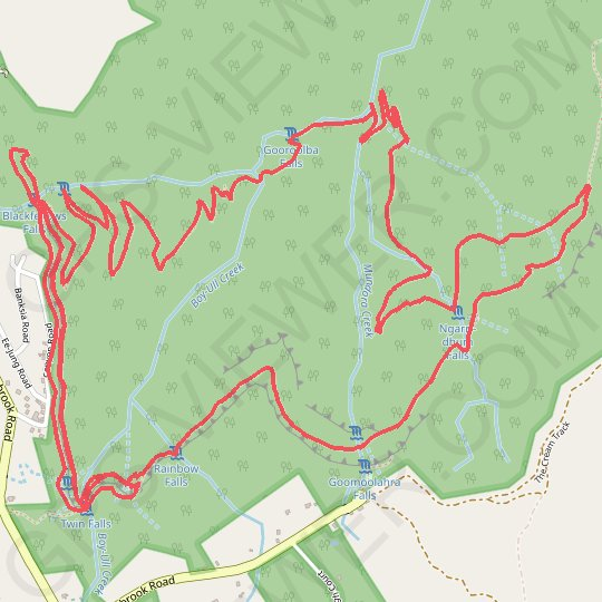 Warrie Circuit - Springbrook National Park GPS track, route, trail