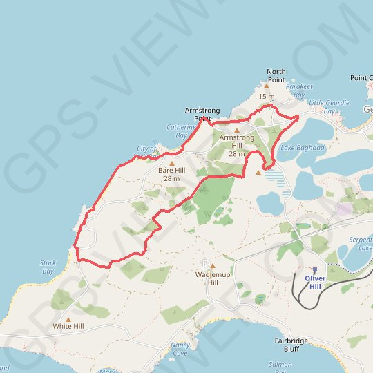 Rottnest Island - City of York Circuit GPS track, route, trail