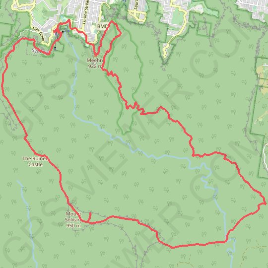 Mount Solitary - Kedumba Valley GPS track, route, trail