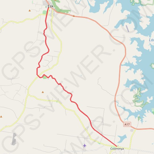 Brisbane Valley Rail Trail: Esk - Coominya GPS track, route, trail