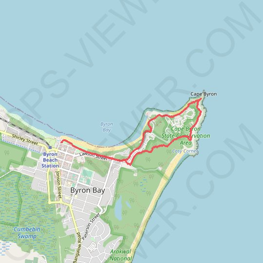 Cape Byron GPS track, route, trail