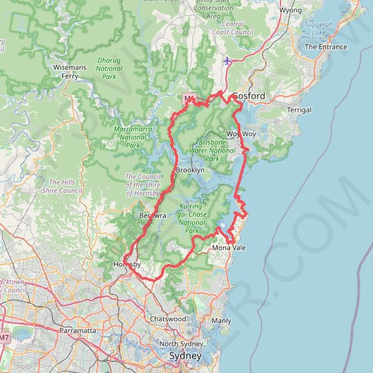 Ettalong GPS track, route, trail