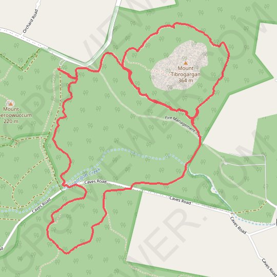 Mount Tibberoowuccum - Mount Tribrogargan - Trachyte Circuit GPS track, route, trail