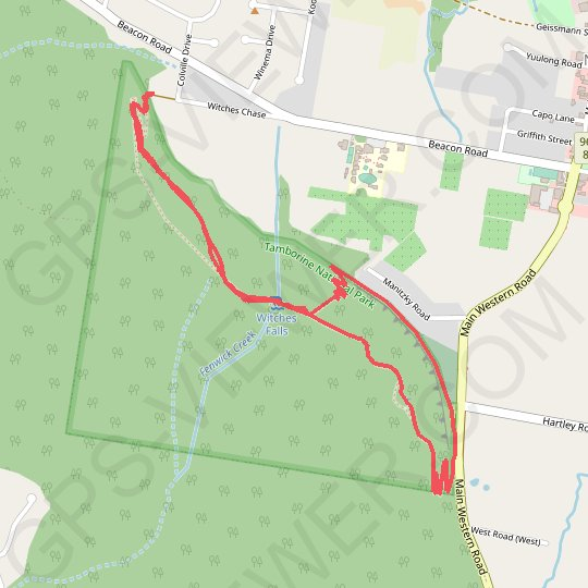 Witches Chase Track - Witches Falls Circuit GPS track, route, trail