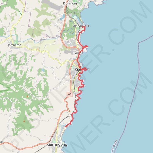 Kiama Coast Walk GPS track, route, trail