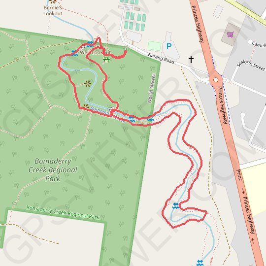Bomaderry Creek Walk GPS track, route, trail