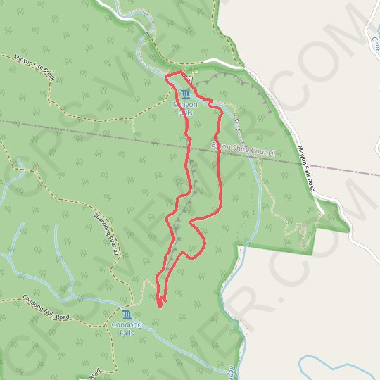 Minyon Falls Loop GPS track, route, trail