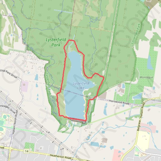 Lysterfield Lake Loop GPS track, route, trail