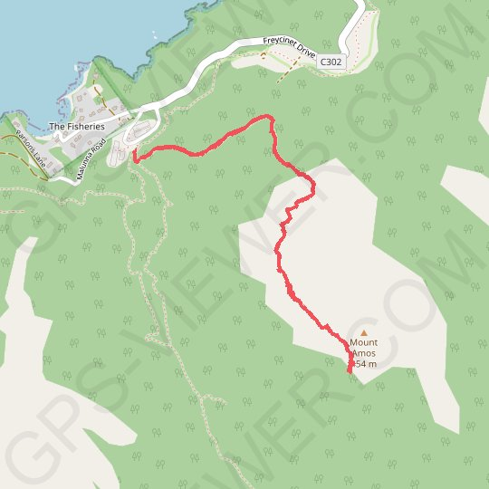 Mount Amos GPS track, route, trail