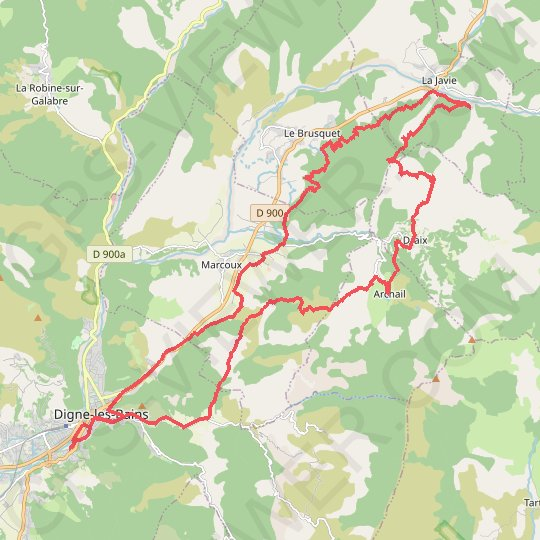 Terres Noires GPS track, route, trail