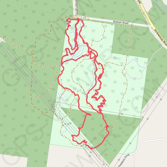 Gladstone Moutain Bike Park GPS track, route, trail