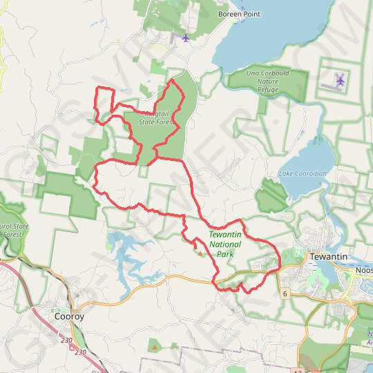 Tinbeerwah - Tewantin National Park - Ringtail State Forest GPS track, route, trail