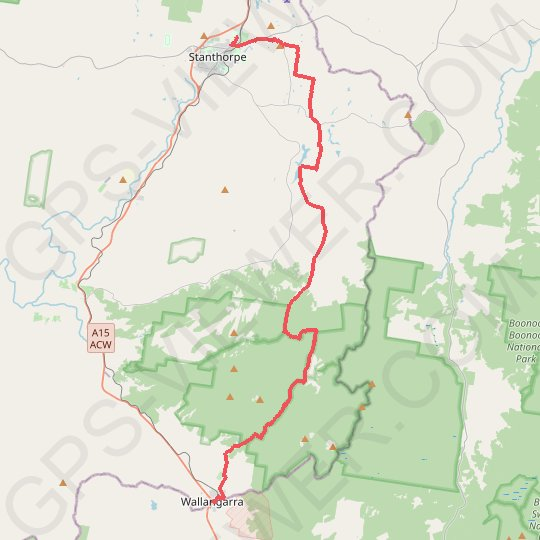 Stanthorpe - Wallangara GPS track, route, trail