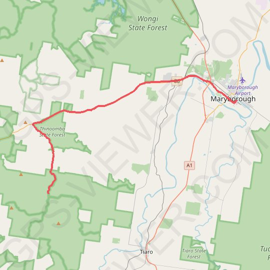 Maryborough - Sandy Creek Bible Camp GPS track, route, trail