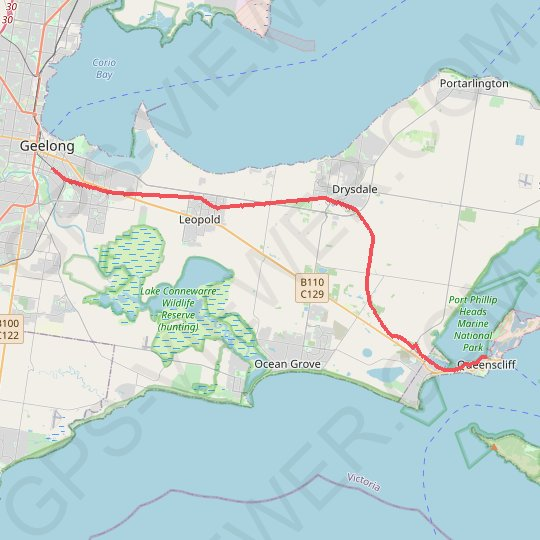 Geelong - Queenscliff GPS track, route, trail