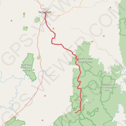 Tenterfield - Spirabo Forest GPS track, route, trail