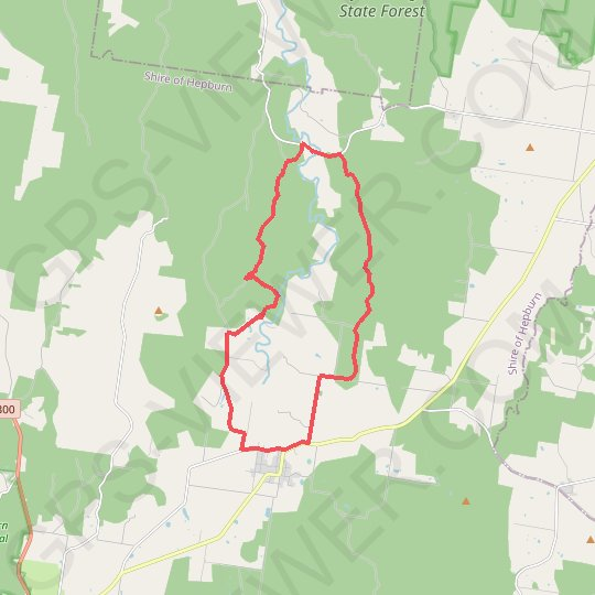Upper Loddon Circuit GPS track, route, trail
