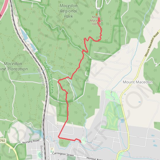 Mount Macedon GPS track, route, trail