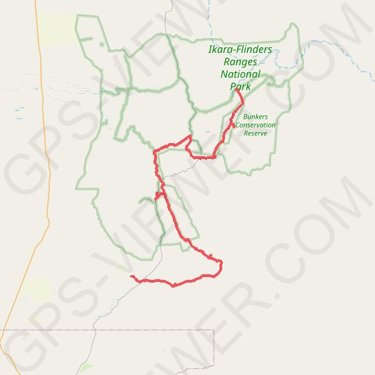 Flinders Ranges National Park GPS track, route, trail