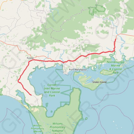 Wilsons Promontory - Yarram GPS track, route, trail