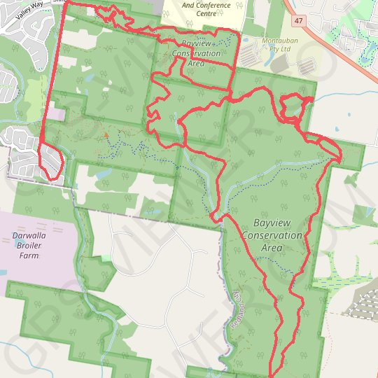 Bayview Conservation Area GPS track, route, trail