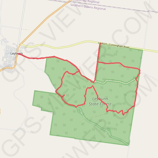 Leyburn State Forest GPS track, route, trail